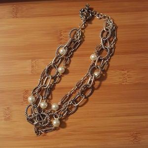 Premier Designs faux pear chain necklace.